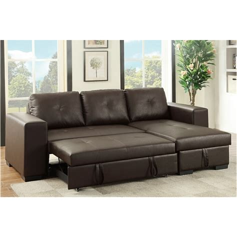 poundex 2 pc daryl collection espresso faux leather