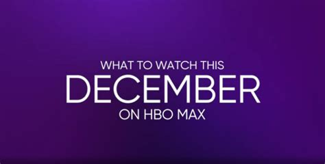 Everything Coming to HBO Max in December 2020 - Rutherford ...