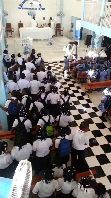college st franois d assise opening day of school 2012 at the coll 232 ge st fran 231 ois d assise anse 224 galets la gonave haiti
