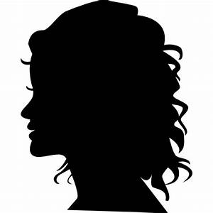 Woman silhouette head side view - Free People icons