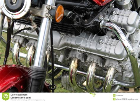 Classic Japanese Motorcycle Engine Stock Images