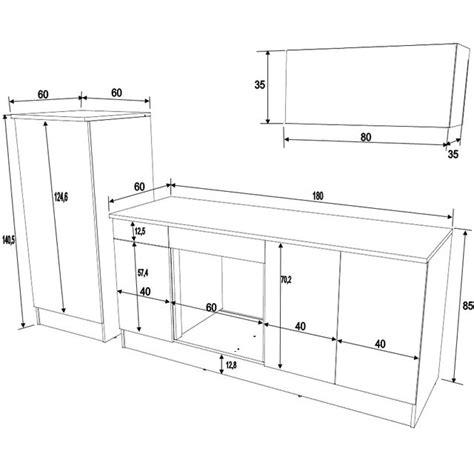 dimension meuble de cuisine dimension meuble de cuisine idées de décoration