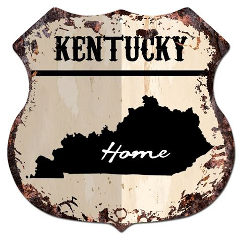 home decor gifts bp0133 home kentucky map shield rustic chic sign bar shop