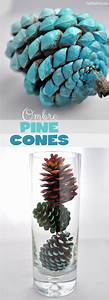 Ombre Painted Pine Cones DIY Club Chica Circle - where