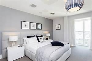 Welche Wandfarbe Schlafzimmer : wandfarbe grau im schlafzimmer 77 gestaltungsideen ~ Markanthonyermac.com Haus und Dekorationen