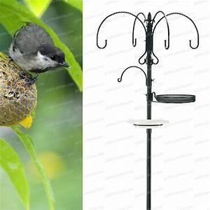 Mangeoire Oiseaux Sur Pied : multi station alimentation oiseaux oiseaux du jardin ~ Teatrodelosmanantiales.com Idées de Décoration