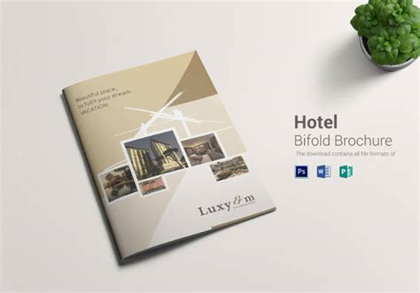 Bi Fold Brochure Design Templates 13 Hotel Brochures Sle Templates