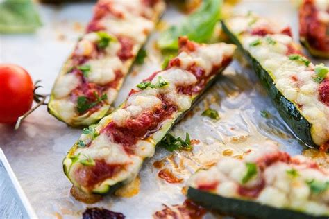 Zucchini Boats Pizza by Pizza Zucchini Boats