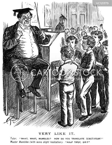 english teacher vintage  historic cartoons