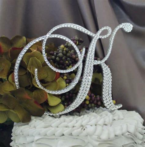 """5 5"""" Monogram Wedding Cake Topper In Any Letter A B C D E"""