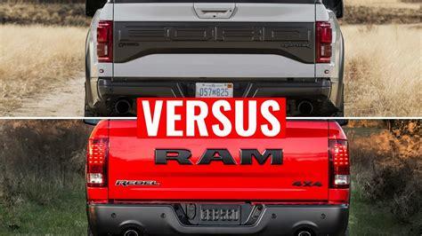 Dodge Ram Rebel Vs Raptor by 2017 Ford Raptor Vs Ram 1500 Rebel