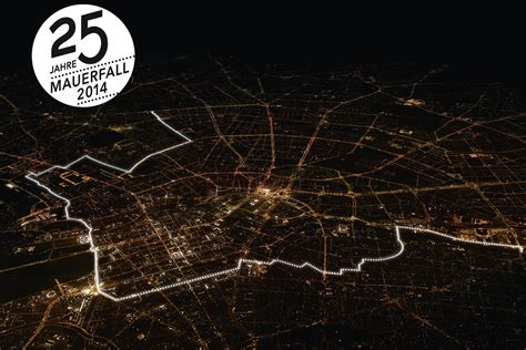 berlin wall to be rebuilt with glowing white helium balloons for 25th anniversary of fall