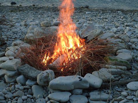 Campfire On Beach