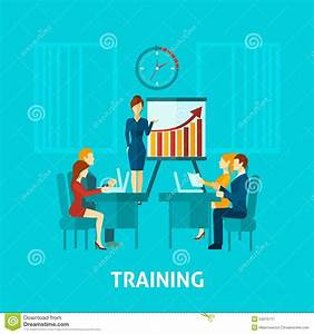 Business Training Flat Icon Stock Vector