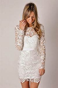 Long sleeve lace wedding dress dressed up girl for Long sleeve short wedding dresses