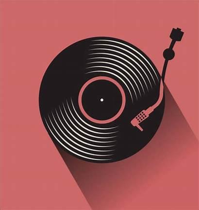 Vinyl Record Vector Illustration Turntable Simple Disc