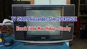 Memperbaiki Tv Sharp Alexander Slim 21dxs250e Rusak Tidak Mau Hidup - Stanby