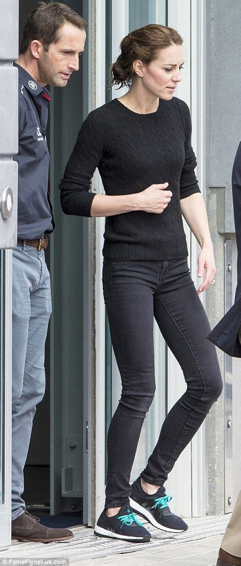 Kate Middleton Goes Casual Jumper Jeans Trainers