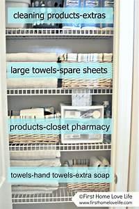 Linen Closet Organization and Closet Pharmacy - First Home