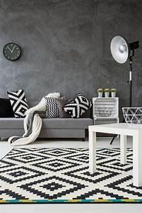 Teppich Schwarz Weiß Grau : wohnzimmer farb kombinationen mit grau ~ Eleganceandgraceweddings.com Haus und Dekorationen