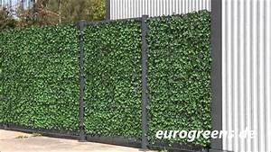 eurogreens kunstpflanzen efeu hecke youtube With französischer balkon mit garten wand verkleiden