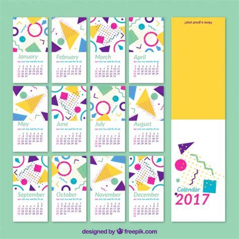2017 kalender geometrischen formen der