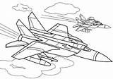Coloring Fighter Pages Plane Aircraft War Raskraski Atv Boys Coloringtop sketch template