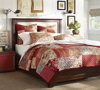 pottery barn quilt Georgia Patchwork Quilt & Sham - Red | Pottery Barn