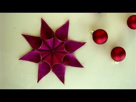 einfache sterne basteln für weihnachten weihnachtssterne basteln mit geschenkband diy weihnachtsdeko sterne basteln weihnachten