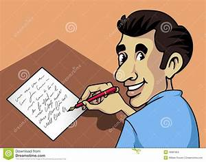 Writing Man Stock Images - Image: 18981904