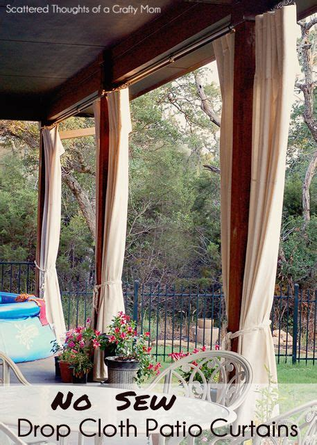 patio curtains  pinterest outdoor curtains drop cloth