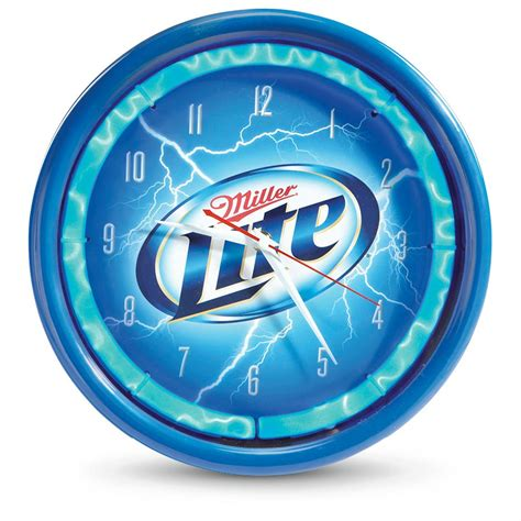 licensed miller lite 174 plasma clock 614634 clocks at