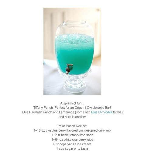 Origami Owl Tiffany Blue Party Punch Yummy Food