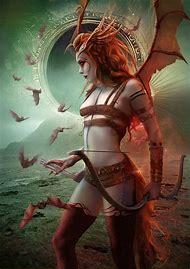 Female Demon Digital Art deviantART