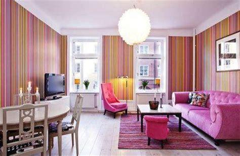 desain ruang tamu warna pink  cantik rumah impian