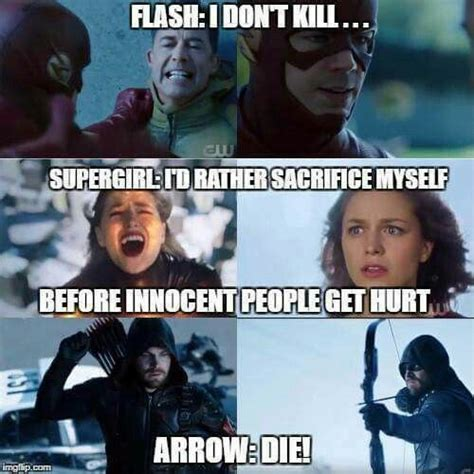 Supergirl Memes - supergirl is the kindest one and yeah arrow is the lilly ine funnies pinterest supergirl