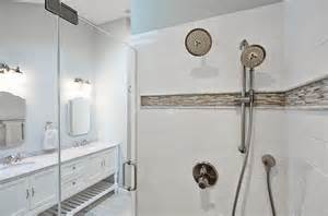 bathroom tile border ideas blue and gray shower border tiles design ideas