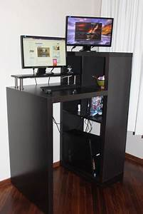 Expedit Workstation To Small Form Standing Desk
