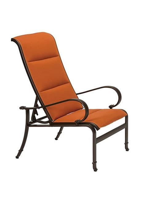 torino padded sling recliner hauser s patio