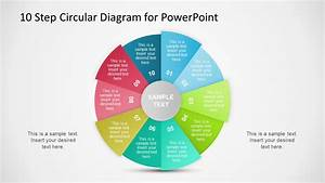 10 Step Circular Diagram Style For Powerpoint