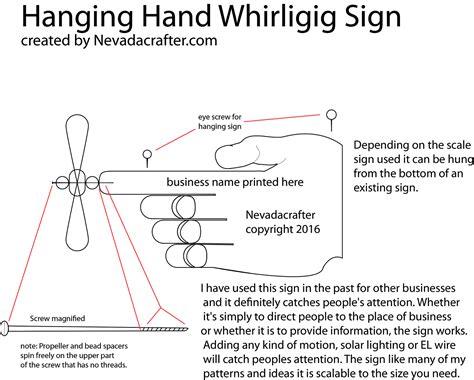whirligig hanging sign patterns hand designs