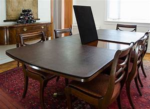 Superior table pad co inc table pads dining table for Protective table pads dining room tables