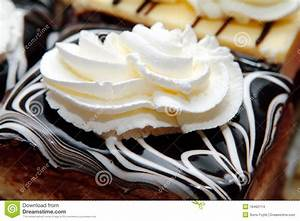 Chocolate Cake And Whipped Cream Stock Photo - Image: 18462114