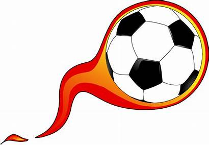 Soccer Ball Flames Clipart Clip Clker Vector