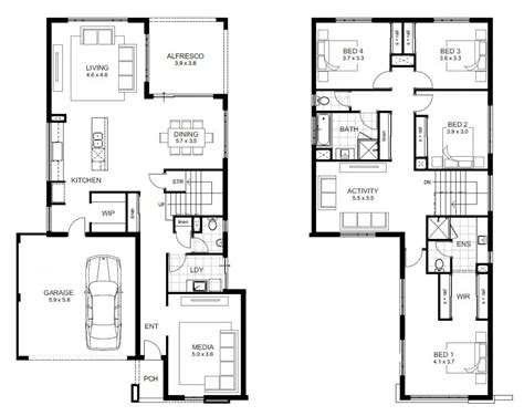Double Story House Designs 2 Storey Floor Plan With