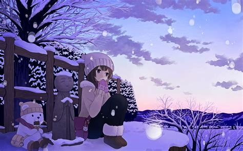 Anime Wallpapers Winter - anime winter snow wallpaper 1920x1200 684887