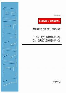 Yanmar 3gm30f Service Manual