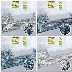 Teppich Orientalisch Modern : hochwertiger bettumrandung teppich flachflor orientalisch klassisch ornamente modern blau beige ~ Sanjose-hotels-ca.com Haus und Dekorationen