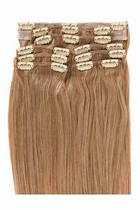 Blonde Clip In Hair Extensions 14 Straight Clip Wefts