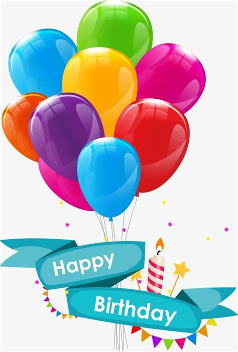 vector cartoon birthday balloons cartoon clipart